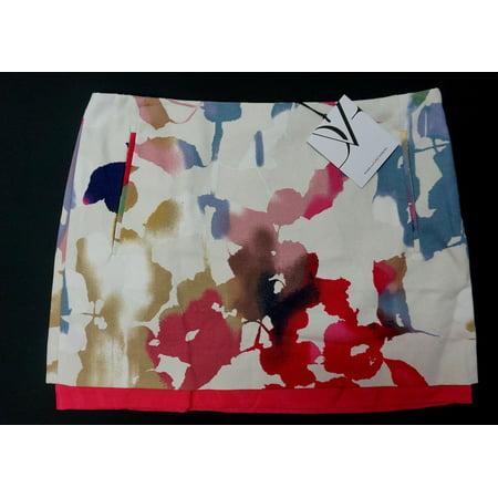 NEW DVF DIANE VON FURSTENBERG RAINBOW GARDEN ELLEY MINI SKIRT W 2 POCKET SIZE 6 Diane Von Furstenberg Silk Jersey
