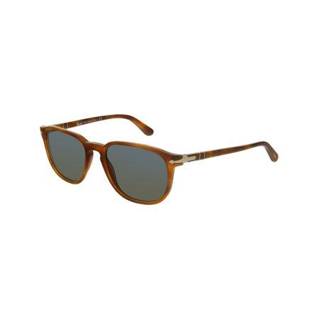 Mirrored PO3019S-96/56-52 Brown Square Sunglasses