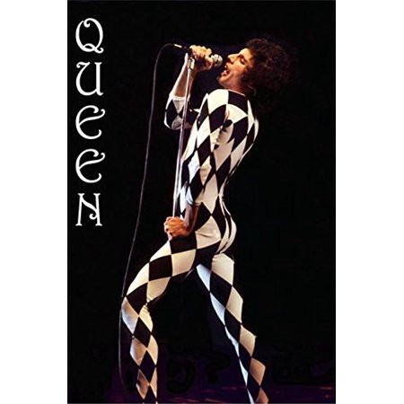 Queen Freddie Mercury Harlequ Outfit 36x24 Music Art Print Poster Stage Costume - Freddie Mercury Outfit