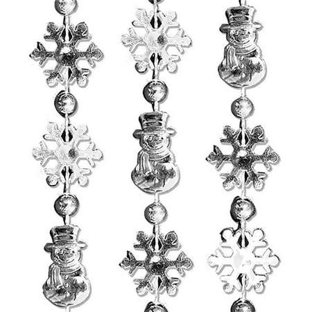 Blinkee 597110 Snowmen Snowflake Bead Necklace - Pack of 12 - image 1 of 1