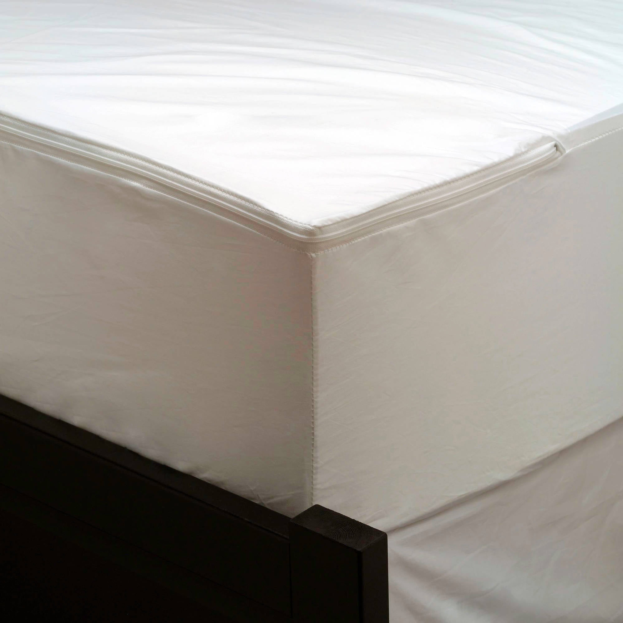 AllerEase Maximum Allergy U0026 Bed Bug Protection Zippered Mattress Protector    Walmart.com