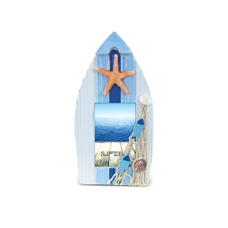 Puzzled Light Blue Stripes Boat Shaped 2.5