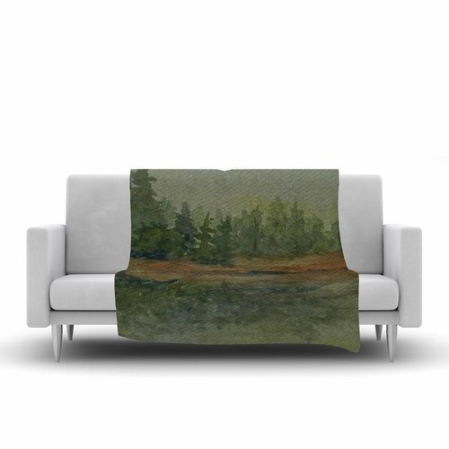 East Urban Home Cyndi Steen and Reflections Watercolor Fleece Blanket