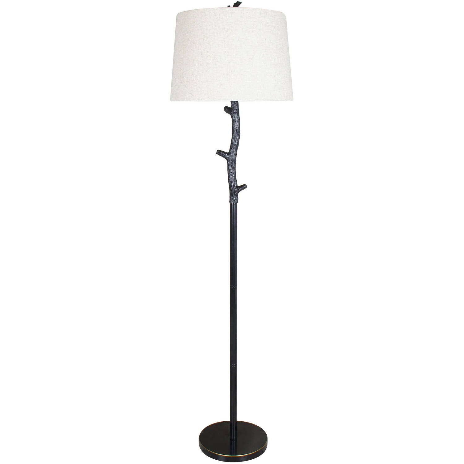 Better Homes and Gardens Branch Floor Lamp with Linen Shade ...