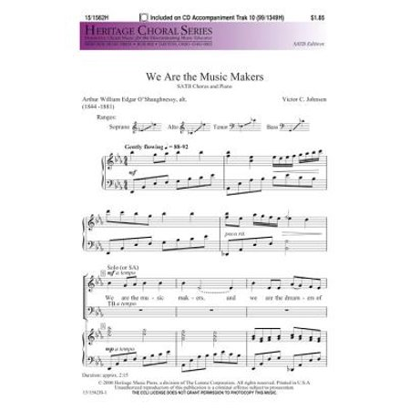 We Are the Music Makers-Ed Octavo - SATB - Victor C Johnson - Sheet Music - 151562H ()
