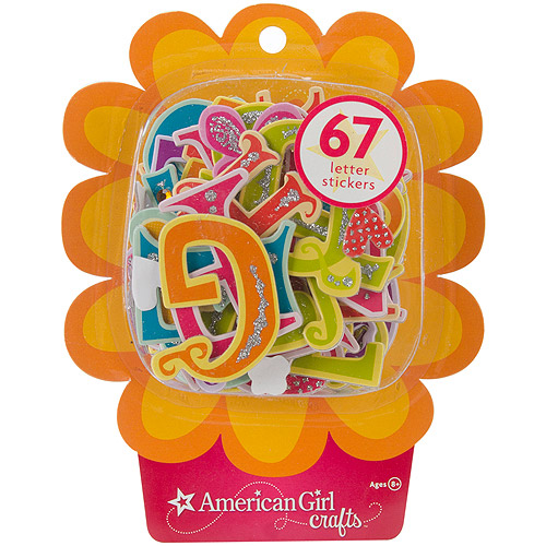 American Girl Lots Of Letters Stickers