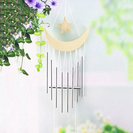 KABOER 1pc Wooden Wind Chimes Metal Tubes Bells Outdoor Yard Garden Hanging Ornaments](Wooden Chimes)