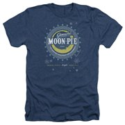 Moon Pie Snowing Moon Pies Mens Heather Shirt