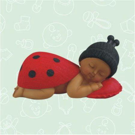 De Yi 26002K-RD Ethnic Baby Shower Ladybug Centerpiece in Red