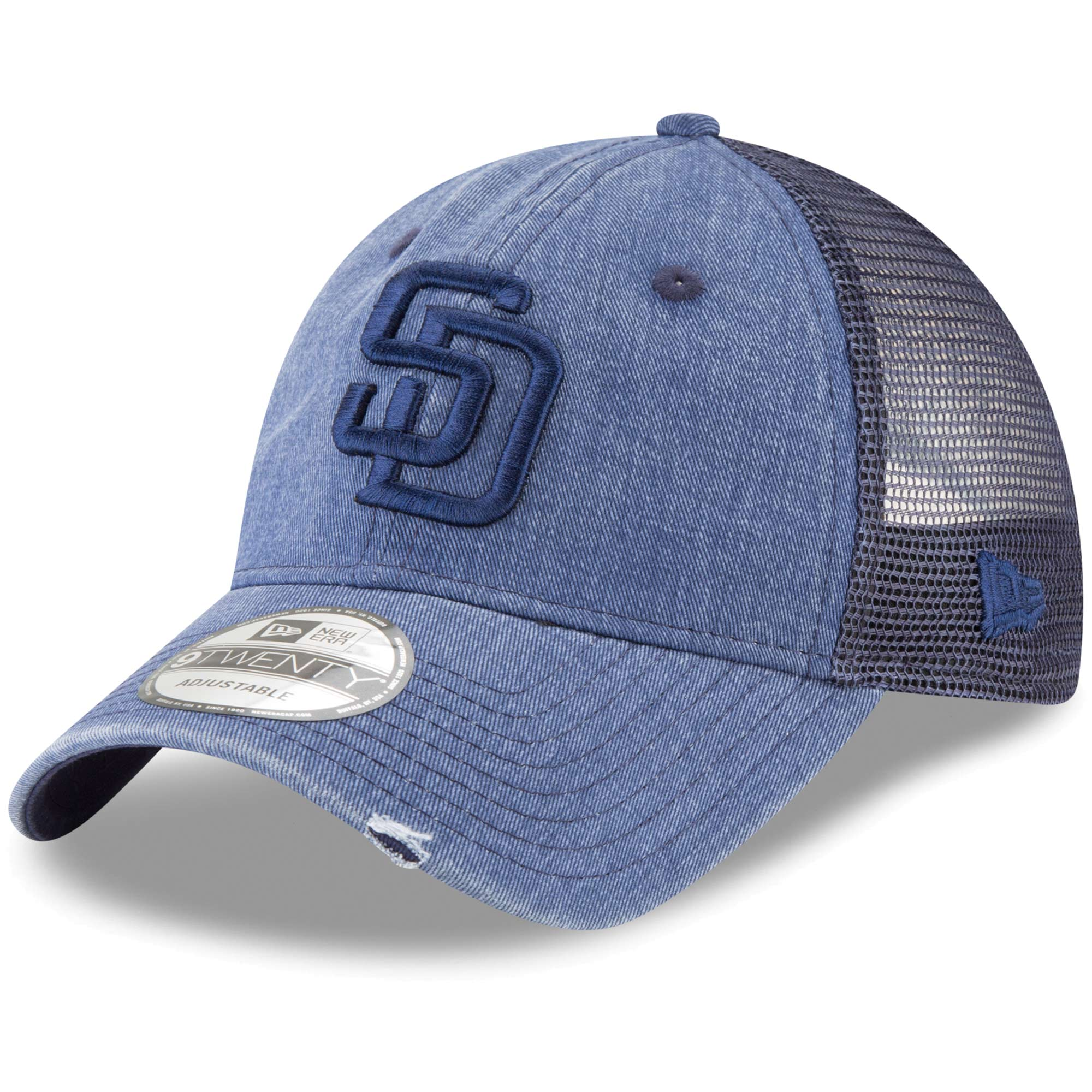 San Diego Padres New Era Tonal Washed 9TWENTY Adjustable Hat - Navy - OSFA
