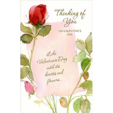 Freedom Greetings Long Stem Red Roses Valentine's Day Card