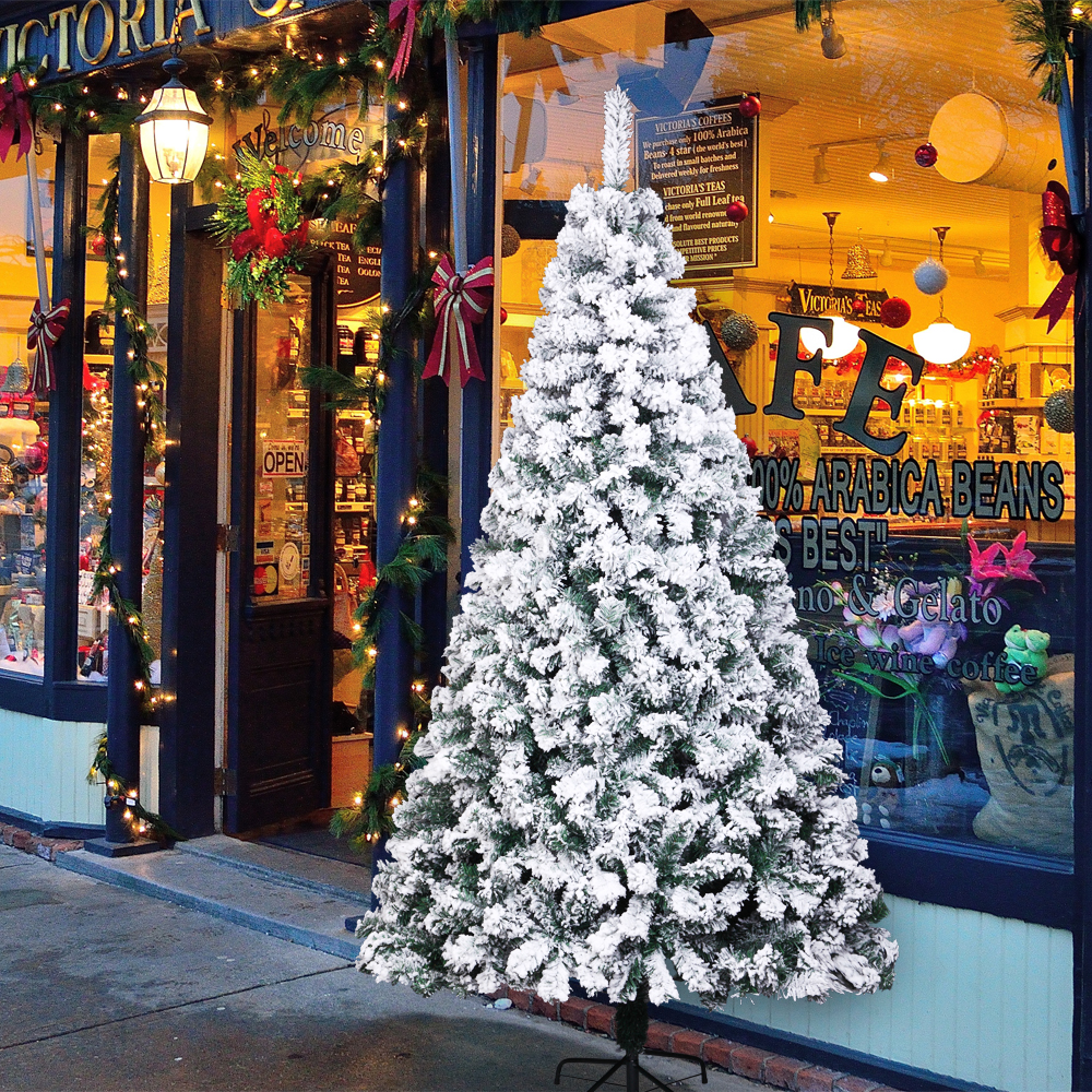20FT Christmas Tree W/Solid Stand Free Balls Indoor Outdoor Holiday ...