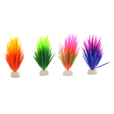 4pcs Plastic Mini Plant Fishbowl Underwater Decorative Ornament w/ Stand - image 2 of 2