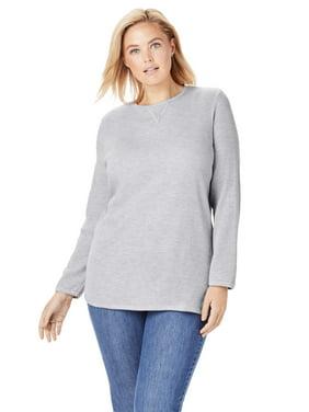 Woman Within Plus Size Thermal Sweatshirt