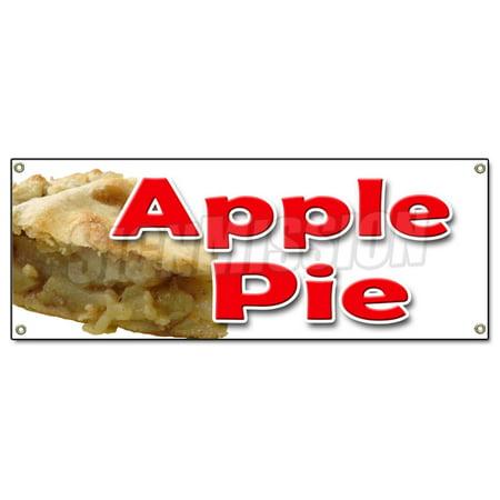 Image of APPLE PIE BANNER SIGN baker sweets pie crust apple dutch cobbler home made fresh