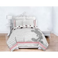 Mickey Mouse 90th Anniversary Striped Bed in a Bag Bedding Set w/ Reversible Comforter