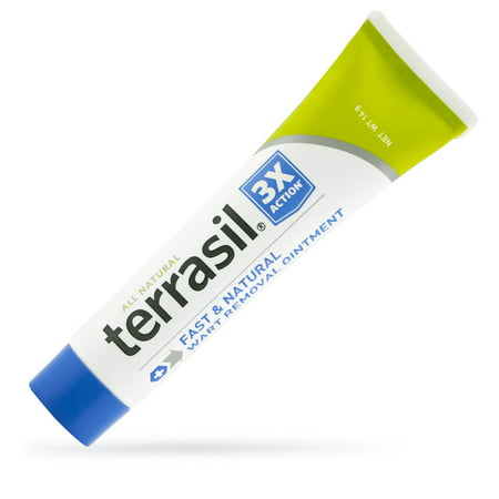 Wart Remover by Terrasil® with All-Natural Activated Minerals® Safely and Gently Removes Warts from Facial and Genital Area Acid-Free Without Burning 3X Action (14gm tube (Best Prescription For Genital Warts)