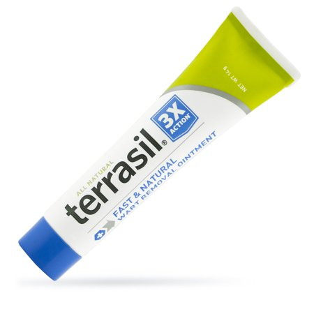 Wart Remover by Terrasil® with All-Natural Activated Minerals® Safely and Gently Removes Warts from Facial and Genital Area Acid-Free Without Burning 3X Action (14gm tube (Best Genital Wart Removal Cream)