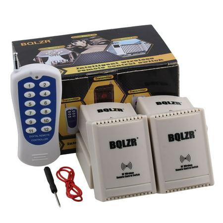 BQLZR 12V 2CH RF 433MHZ Self-locking Inching Wireless Relay