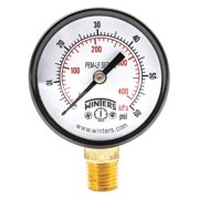 "WINTERS 2-1/2"" Lead Free Pressure Gauge,  0 to 300 psi PFQ807LF"