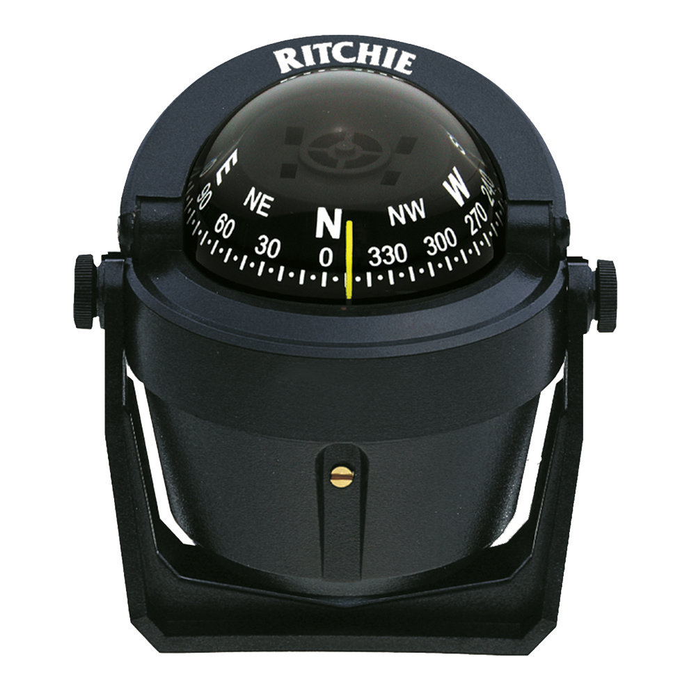 Ritchie B-51 Bracket Mount Explorer Compass, Black with Black Dial by Generic
