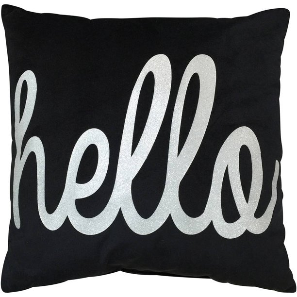 Your Zone Hello Decorative Pillow, 1 Each