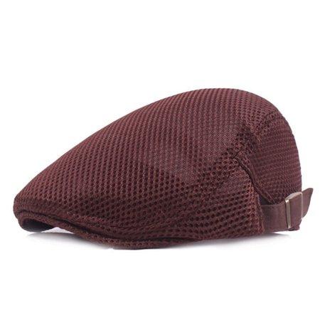 Fancyleo Summer Men's Breathable mesh Ivy Cap Beretsboy hat Gatsby Cap Cabbie Flat - Gatsby Clothing For Men