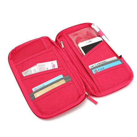 Travel Passport Credit ID Card Cash Organizer Holder Wallet Purse Case Bag School Season Discount