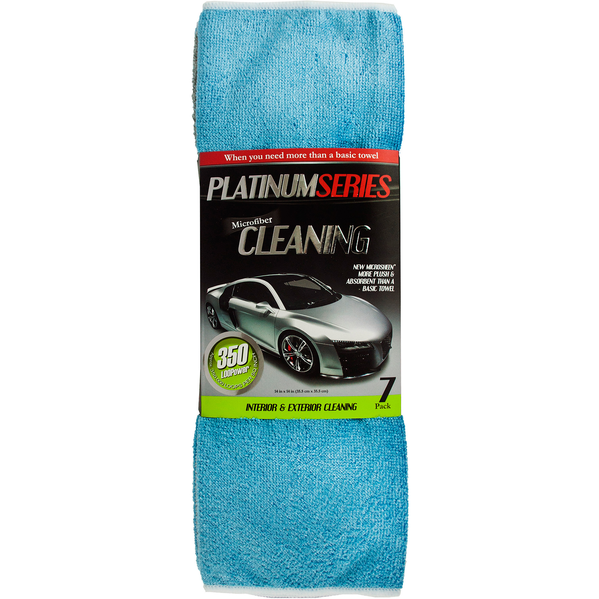 Microtex Microfiber Towels, Aqua/Silver, 7-Pack