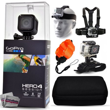 GoPro Hero 4 HERO4 Session CHDHS-101 with Headstrap + Chest Harness Mount + Floaty Strap + Wrist Glove Strap + Premium Case