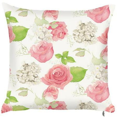 Red Barrel Studio Spider Monkey Spring Rose Throw Pillow Set Of 2
