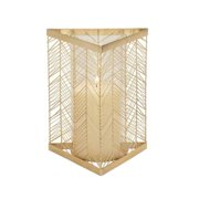 Studio 350 Chic Metal Glass Gold Candle Holder