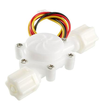 Hall Effect Water Flow Sensor Switch Flowmeter Fluid DC5V 0 3-3L/min  SEN-HZ06W