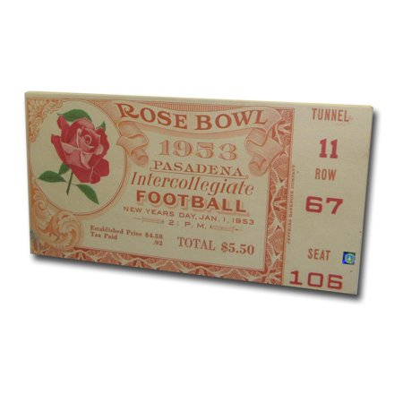 1953 Rose Bowl Mega Ticket - Usc Trojans USC Trojans (Bowl Tickets)
