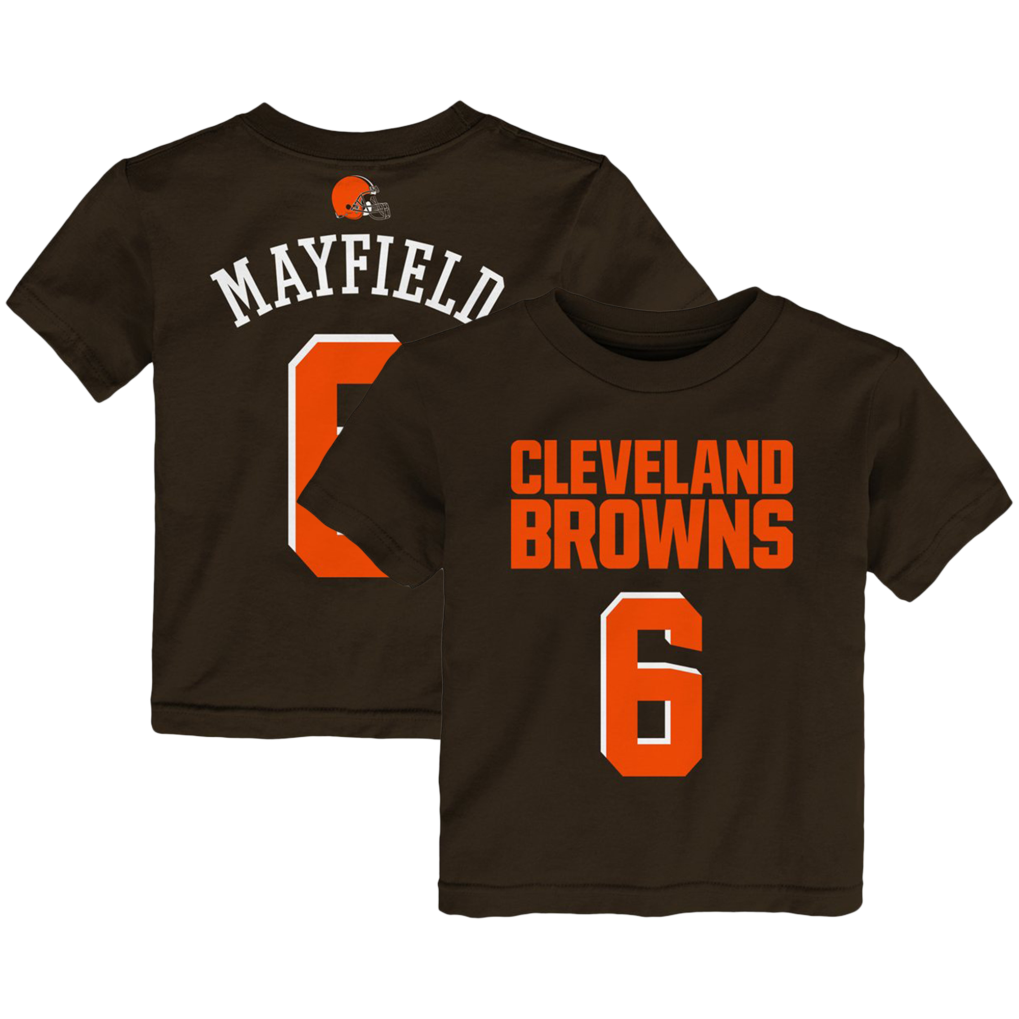 Baker Mayfield Cleveland Browns Preschool Mainliner Name & Number T-Shirt - Brown
