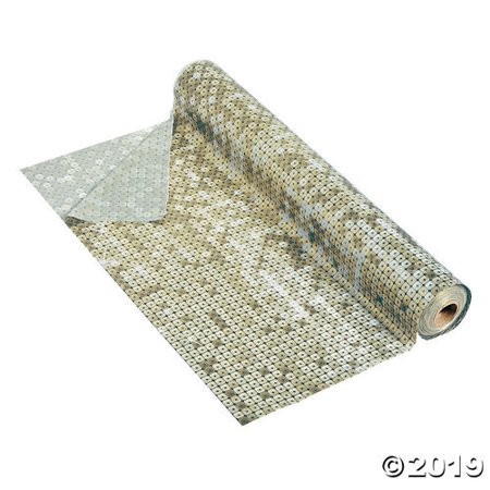 Gold Faux Sequin Plastic Tablecloth Roll - Plastic Tablecloth Rolls
