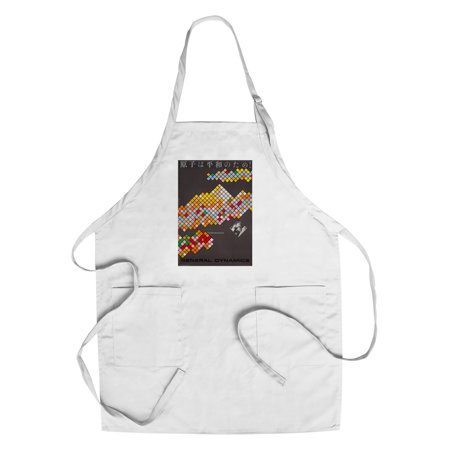 General Dynamics   Atoms For Peace  Six Posters Cposter  Artist  Nitsche  Switzerland C  1955  Cotton Polyester Chefs Apron