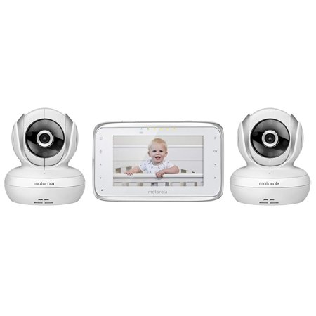 Motorola MBP38S-2 Digital Video Baby Monitor with 4.3-Inch Color LCD Screen and 2 Cameras with Remote Pan, Tilt and