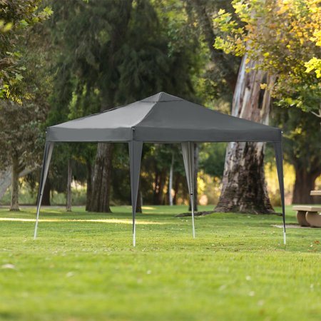 Best Choice Products 10x10ft Outdoor Portable Lightweight Folding Instant Pop Up Gazebo Canopy Shade Tent w/ Adjustable Height, Wind Vent, Carrying Bag - Dark Gray