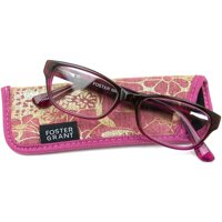 Foster Grant Women's Carletta +1.75 Reading Glasses, Pink