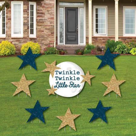 Twinkle Twinkle Little Star - Yard Sign & Outdoor Lawn Decorations - Baby Shower or Birthday Party Yard Signs - Set of 8 - Twinkle Little Star Baby Shower