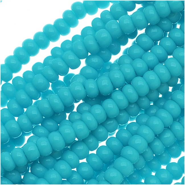 Czech Seed Beads 11/0 Blue Turquoise Opaque (1 Hank/4000 Beads)