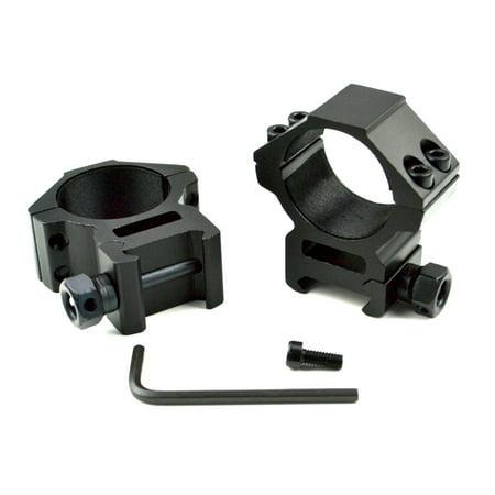 30mm MEDIUM PROFILE Scope Rings, Fits Picatinny 21mm Base, Aluminum, 1 pair (2