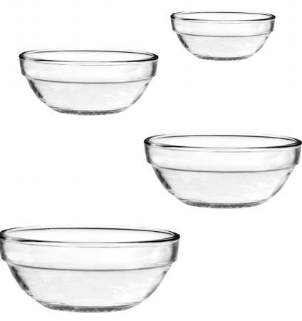 Anchor Hocking Glass Bowl Set - 4 pcs Large by Anchor Hocking