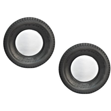 Two Trailer Tires ST185/80D13 185/80D-13 ST 185 80 D 13 Boat Camper RV Spare
