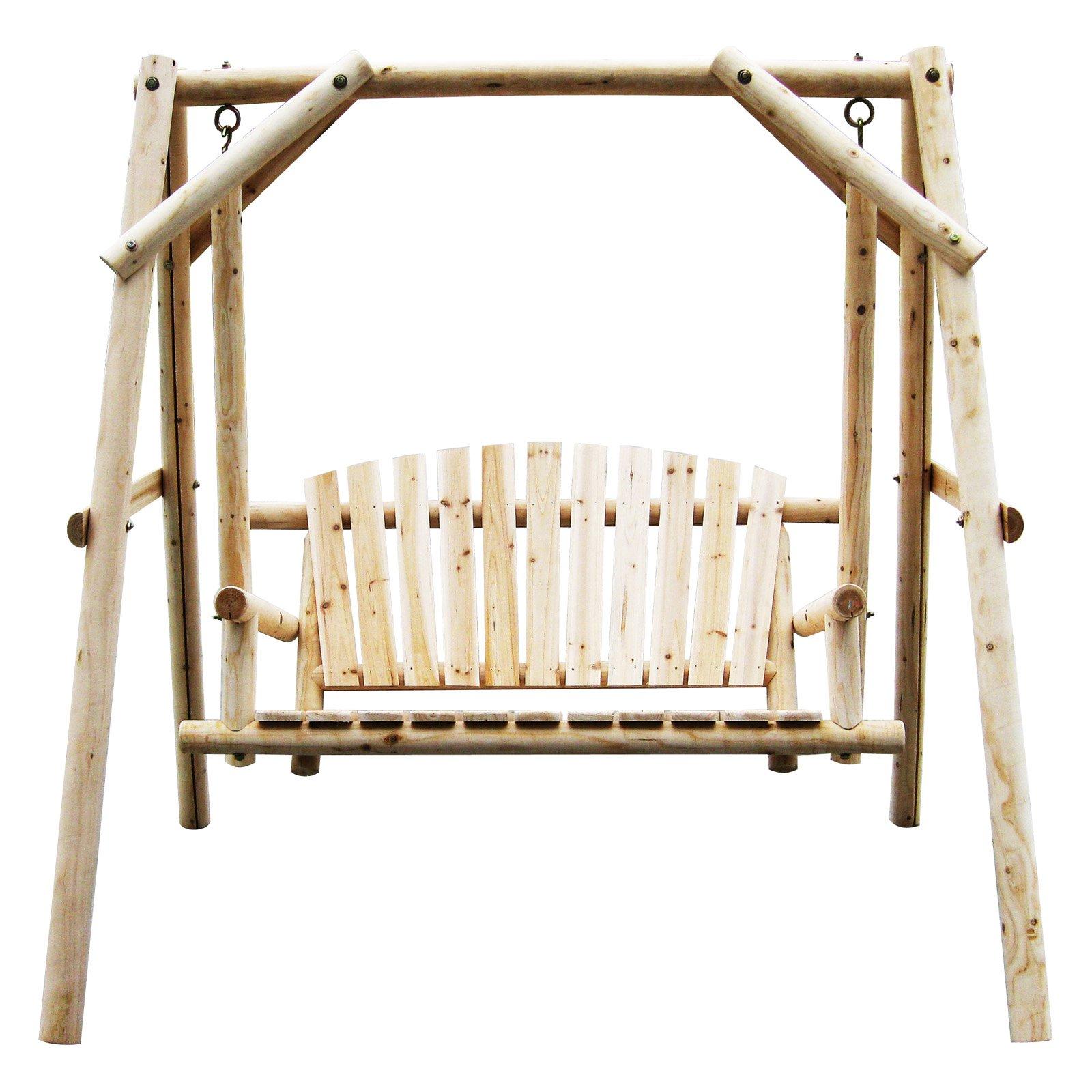 American Furniture Classics Log Swing, Natural Finish