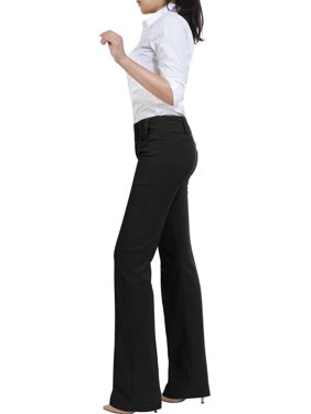 Made by Olivia Women's Relaxed Boot-Cut Stretch Office Pants Trousers Slacks