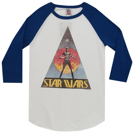 Star Wars Junk Food Adult +-Sleeve Raglan T-Shirt Tee (Star Wars Food Ideas)