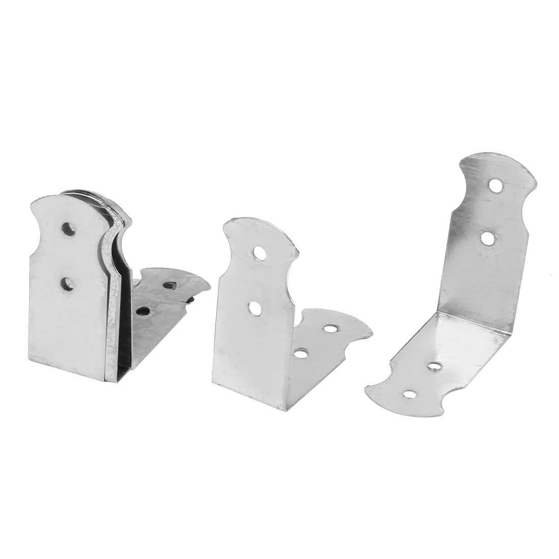 Right Angle Case Box Edge Cover Corner Guards Protectors Silver Tone 5pcs