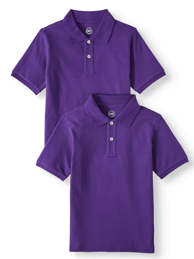 Genuine Merchandise Baltimore Ravens Adult Small Performance Short Sleeve Polo Shirt Purple /& White